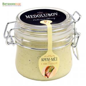 Крем-мёд Медолюбов c фисташкой (бугель) 250мл