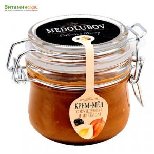 Крем-мёд Медолюбов фундук-изюм (бугель) 250мл