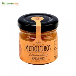 Крем-мёд Медолюбов с грецким орехом, 40мл