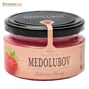 Крем-мёд Медолюбов с клубникой, 250мл