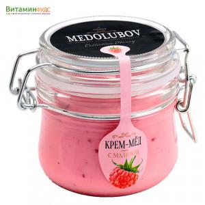 Крем-мёд Медолюбов с малиной (бугель) 250мл