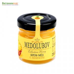 Крем-мёд Медолюбов с ананасом, 40мл