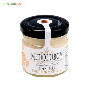 Крем-мёд Медолюбов с кедровым орехом, 40мл