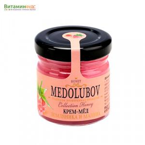 Крем-мёд Медолюбов малина-земляника, 40мл