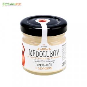 Крем-мёд Медолюбов с молоком, 40мл