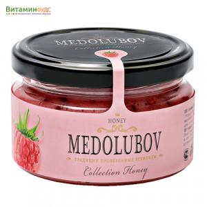 Крем-мёд Медолюбов с малиной, 250мл