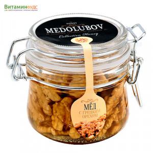 Мёд Медолюбов с грецким орехом (бугель) 250мл