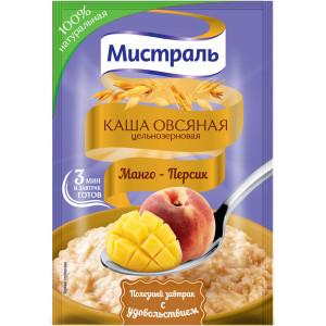 Каша овсяная Манго - Персик 40г, МИСТРАЛЬ