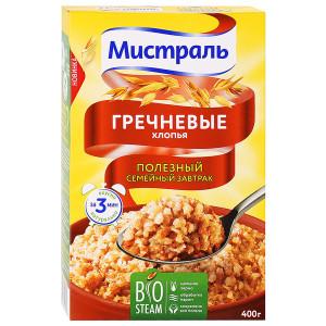Хлопья Гречневые 400г, МИСТРАЛЬ