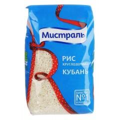 Рис Кубань белый круглозерный 900г, МИСТРАЛЬ