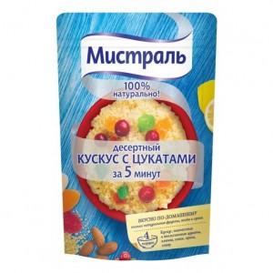 Гарнир десертный Кускус с цукатами 230г, МИСТРАЛЬ