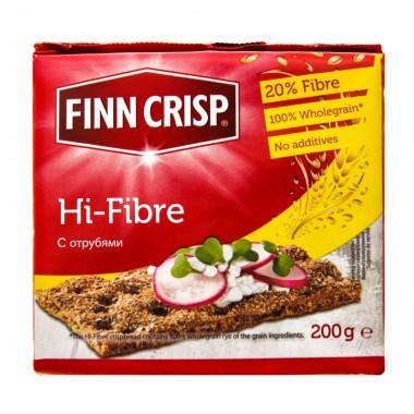 Хлебцы Hi-Fibre (С отрубями) 200г, FINN CRISP (Финляндия)