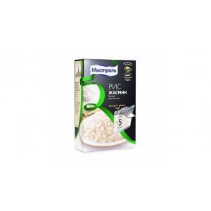 Рис Жасмин белый ароматный 5х80г*6, МИСТРАЛЬ в Пакетах для варки