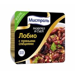 Второе блюдо МИСТРАЛЬ разогрел и съел Лобио с пряными специями 250г, МИСТРАЛЬ