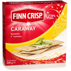 Сухарики Caraway (С тмином) 200г, FINN CRISP (Финляндия)