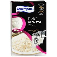 Рис Басмати белый ароматный 5х80г*6, МИСТРАЛЬ в Пакетах для варки