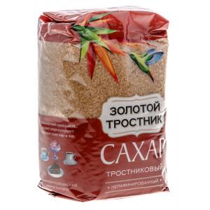 Сахар тростниковый нерафинированный 900г, ЗОЛОТОЙ ТРОСТНИК