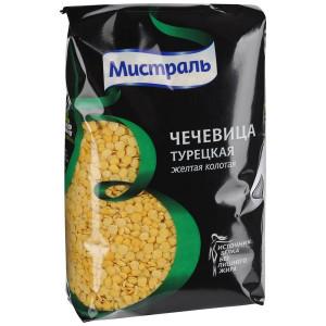 Чечевица Турецкая желтая колотая 450г, МИСТРАЛЬ