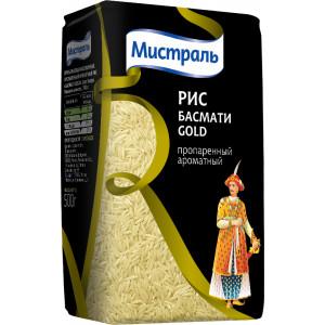 Рис Басмати Gold пропаренный ароматный 500г, МИСТРАЛЬ Элитный