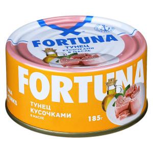 Тунец Кусочками с маслом 185г, FORTUNA (Таиланд)