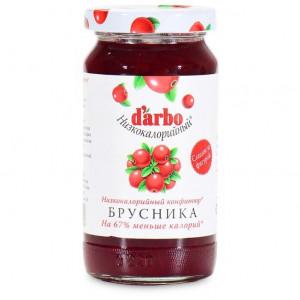 Конфитюр низкокалорийный Брусника 220г (60% фруктов), DARBO (Австрия)