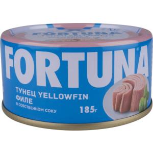 Тунец Филе Yellowfin 185г, FORTUNA (Таиланд)