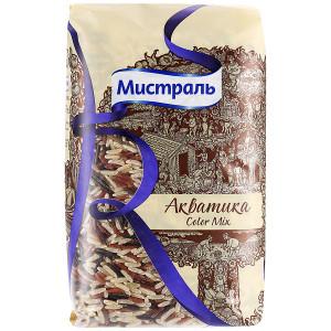 Рис Акватика Color Mix смесь красного, коричневого и дикого риса 500г, МИСТРАЛЬ Гурме