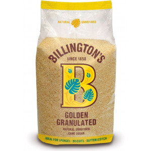 Сахар Golden Granulated 1кг, BILLINGTON'S нерафинированный тростниковый (Маврикий)
