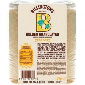 Сахар Golden Granulated 3кг, BILLINGTON'S нерафинированный тростниковый (Маврикий)