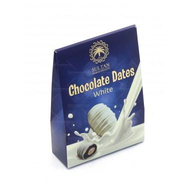 Финики с миндалем в белом молочном шоколаде SULTAN 100 г