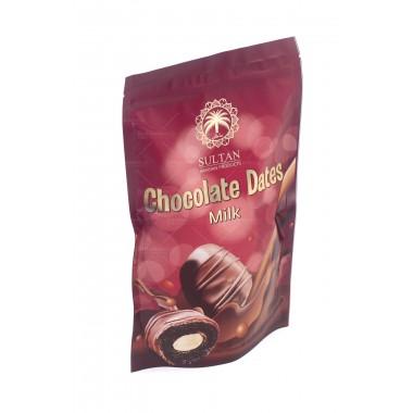 Финики с миндалем в  темном молочном шоколаде SULTAN 350 г