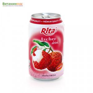Напиток со вкусом Личи RITA, 330мл.