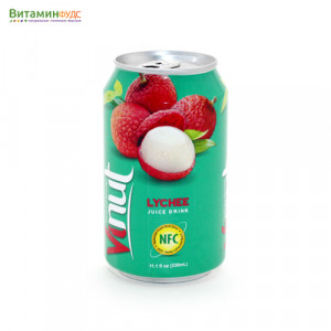 Напиток со вкусом Личи VINUT, 330мл.