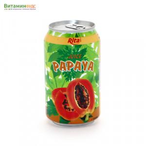 Напиток со вкусом Папайи RITA, 330мл.