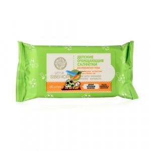 Детские очищающие салфетки c экстрактами ромашки и белого чая 10г