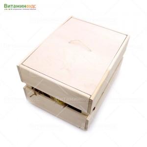 Деревянный подарочный ящик светлый L