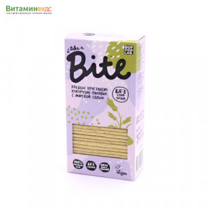 Хлебцы хрустящие кукурузно-рисовые с морской солью BITE, 150г