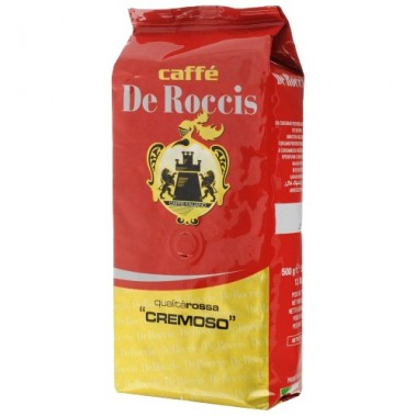 Кофе De Roccis Qualita Rossa Cremoso в зернах, 500г