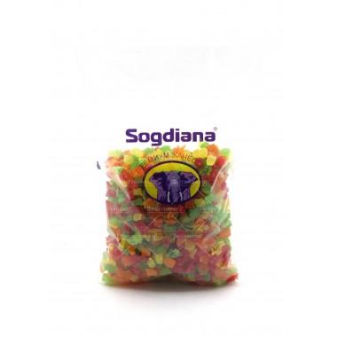 Ананас кубики цветные Sogdiana 1 кг