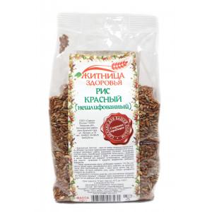 Рис красный нешлифованный 500г