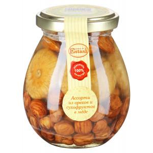 Ассорти Aroma di Estasi из орехов и сухофруктов в мёде Микс №5, 320г