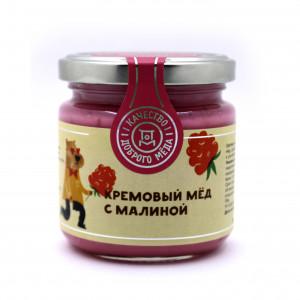 Кремовый Мёд с Малиной 220г