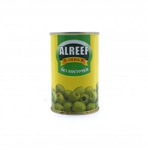 Оливки ALReef зеленые без косточки 280 г