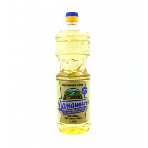 Масло Домашнее подсолнечное рафинированное дезодорированное 1л