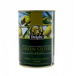 Оливки Delphi с косточкой 425 мл