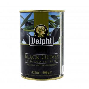 Маслины Delphi с косточкой, 425 мл