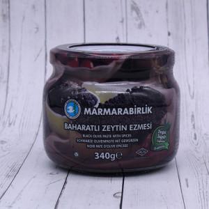 """Паста из черных оливок """"Marmarabirlik"""" 340г."""