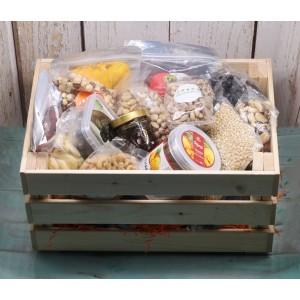 Подарочный ящик L, орехи и сухофрукты