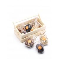 Набор деревянный с орехами и сухофруктами №1