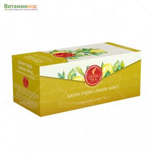 Чай Julius Meinl свежий Лимон-Мята зеленый, 25х1.75 гр